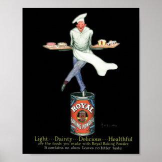 Poster Baker vintage placé sur sa poudre de Baker