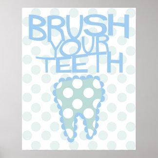 Poster Balayez votre affiche de dentiste de salle de