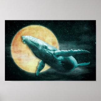 Poster Baleine de bosse d'imaginaire volant à l'affiche
