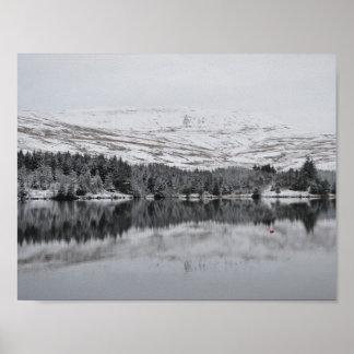 Poster Balises de Brecon dans la neige