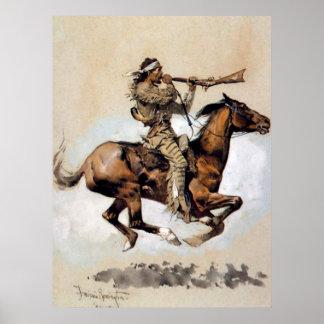 Poster Balle de crachement de chasseur de Buffalo de