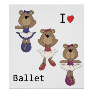 Poster Ballet d'ours