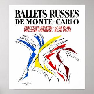 Poster Ballet Russes - art abstrait d'amant de danseur