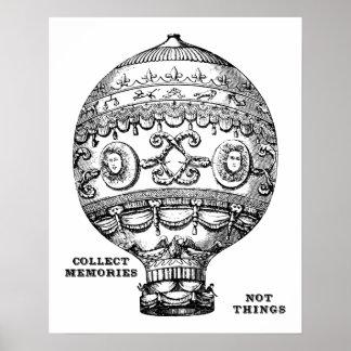 Poster Ballon à air chaud vintage