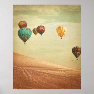 Poster Ballons à air chauds dans le ciel
