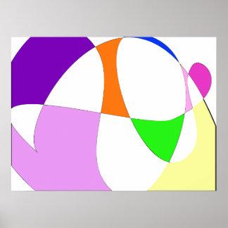 Poster Ballons colorés abstraits