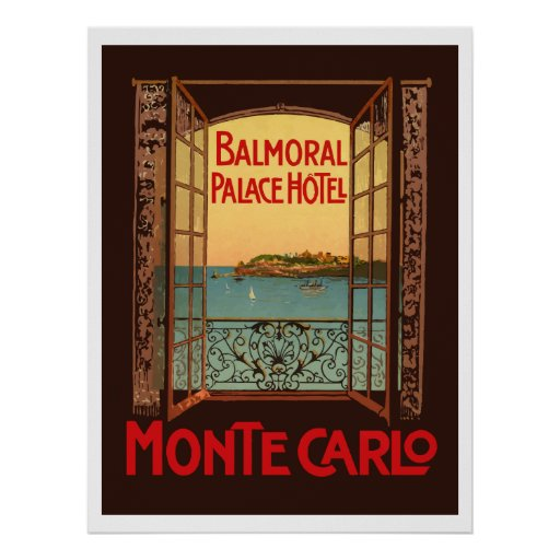 Poster Balmoral Palace Hotel (Monte Carlo)