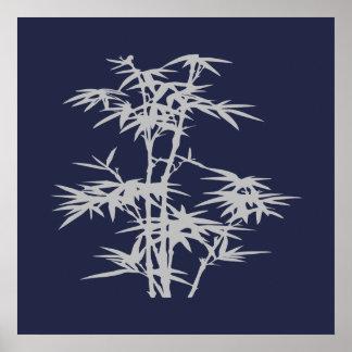 Poster Bambou asiatique de style japonais de zen