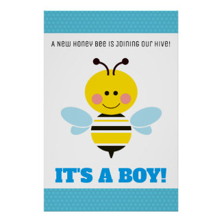 Poster Bande dessinée bleue d'abeille - le genre
