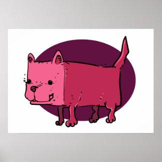 Poster bande dessinée drôle de chien de rectangle