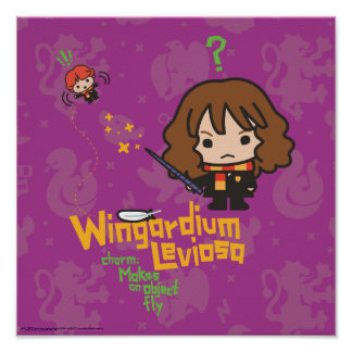Poster Bande dessinée Hermione et charme de Ron