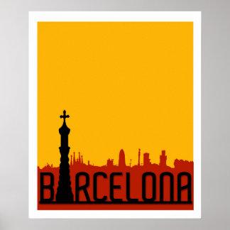 Poster Barcelone, Espagne, affiche de voyage