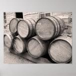Poster Barils en bois de whiskey