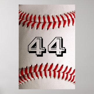 Poster Base-ball avec le nombre personnalisable