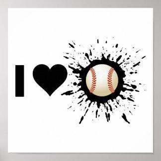 Poster Base-ball d'amour de l'explosif I