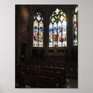 Poster Basilique de cathédrale de l'hypothèse, chapelle