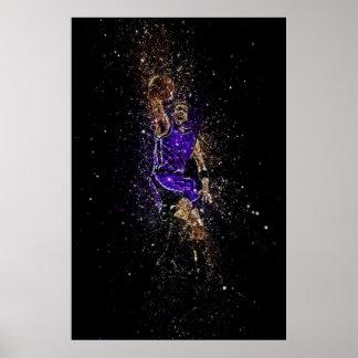 Poster Basketball dunk glitter