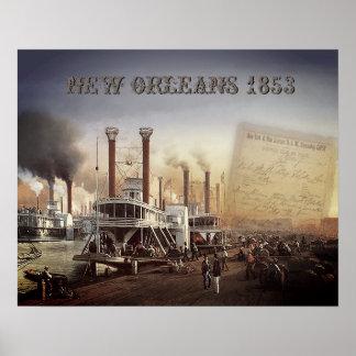 Poster Bateau à vapeur de la Nouvelle-Orléans
