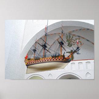 Poster Bateau votif de cathédrale d'Aarhus