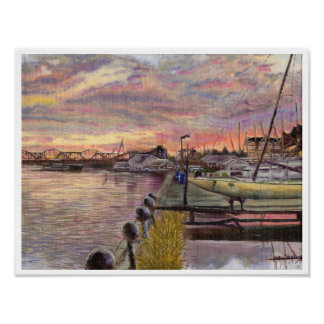 Poster Bateaux sur le fleuve Mississippi