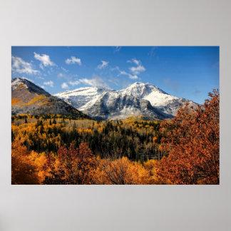 Poster Bâti Timpanogos en montagnes de l'Utah d'automne