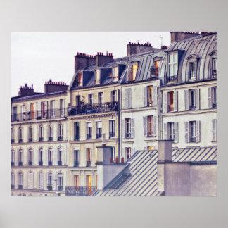 Poster Bâtiment de dessus de toit de l'architecture | de