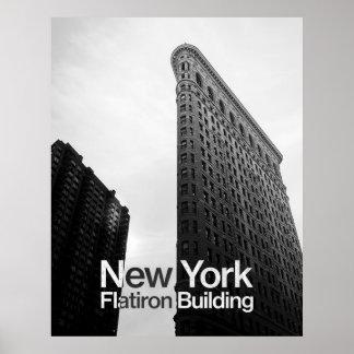 Poster Bâtiment de Flatiron à New York