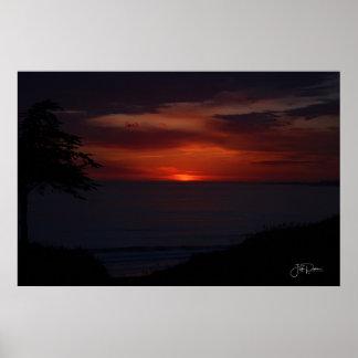 Poster Beau coucher du soleil