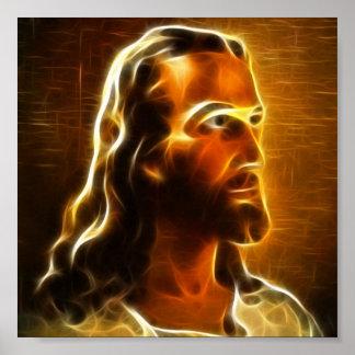 Poster Beau portrait 2 de Jésus