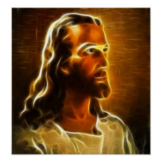 Poster Beau portrait de Jésus