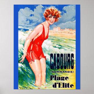 Poster Beauté se baignante française vintage circa la