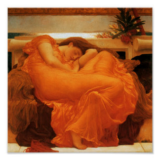 Poster Beaux-arts de flamber juin Frederic Leighton