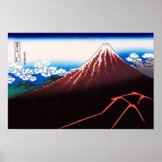 Poster Beaux-arts de Japonais de Mt Fuji Hokusai de
