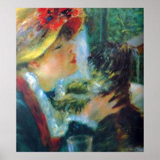 Poster Beaux-arts d'impressionisme de Renoir de fille et