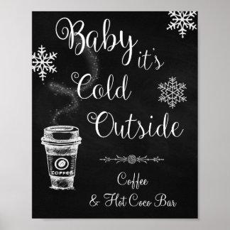 Poster Bébé c'est signe extérieur froid de mariage