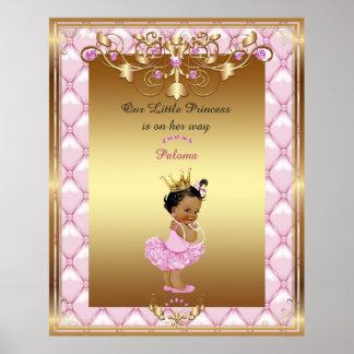Poster Bébé d'affiche, rose, or, 16x20