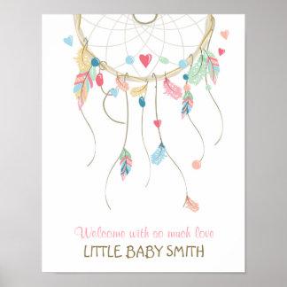 Poster Bébé d'empreinte digitale de Dreamcatcher de