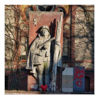 Poster Beelitz, mémorial russe avec le coeur 1,0