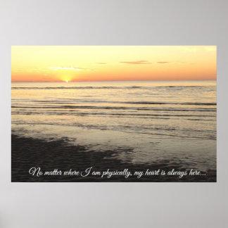 Poster Belle affiche de citation de coucher du soleil de