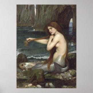 Poster Belle affiche de sirène