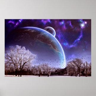 Poster Belle affiche de vue de planète