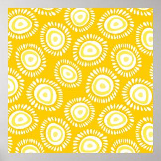 Poster Belle affiche géniale jaune de fleurs