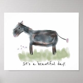 Poster Belle affiche heureuse de jour de l'âne |