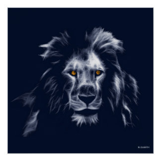 Poster Belles couleurs du Roi Lion Cool Graphic Blue