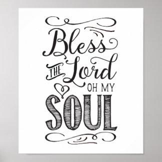 Poster Bénissez l'affiche de seigneur Oh My Soul Art