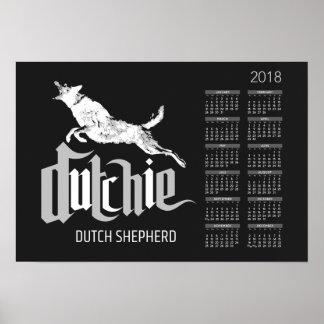 Poster Berger néerlandais - calendrier 2018 de Dutchie