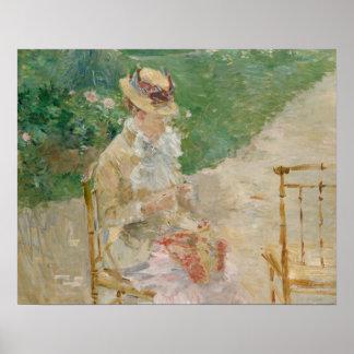 Poster Berthe Morisot - tricot de jeune femme