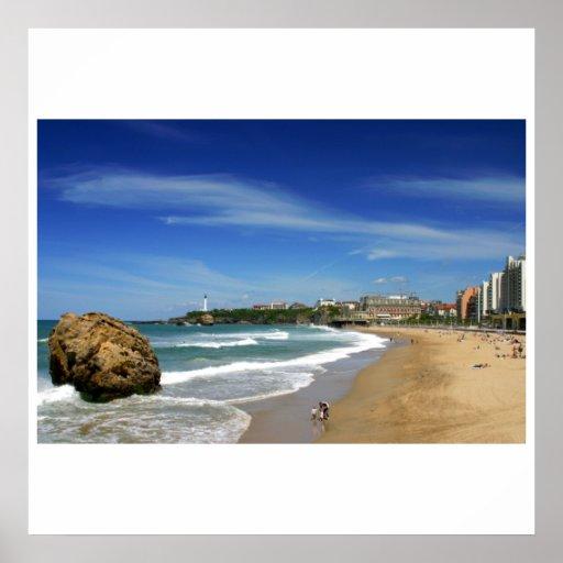 Poster biarritz la grande plage