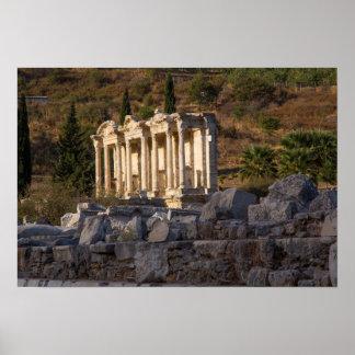 Poster Bibliothèque des ruines de Celsus