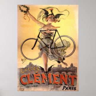 Poster Bicyclette 1883 de Nouveau d'art de cru